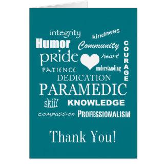 Thank You!/Paramedic/EMT Card