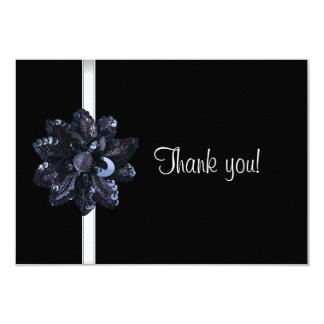 Thank You Party Black Sequin Flower Fabulous 40th Card