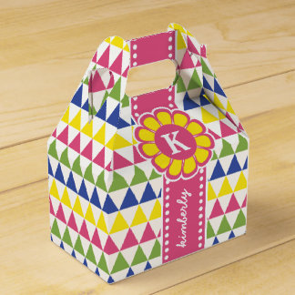 Thank You Party Favor Colorful Pyramid Monogram Ri Favour Box