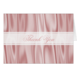 Thank You:  Pastel Pink Faux Satin Fabric Texture Card