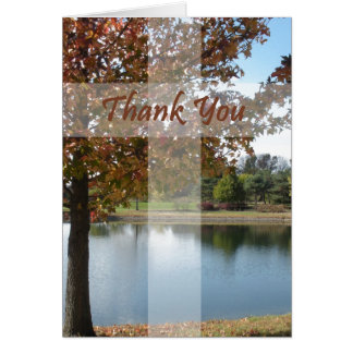 Thank You - Pastor Appreciation With Autumn Tree Card