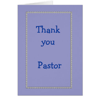 Thank you Pastor Greeting Card