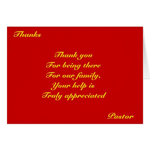 Thank you pastor cards