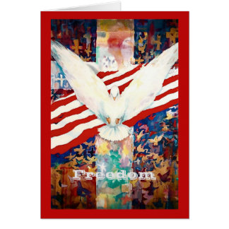 Thank You Patriot Greeting Card for service to USA