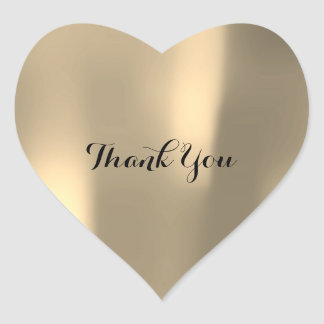 Thank You Pearly Foxier Gold Ombre Gray Heart Sticker