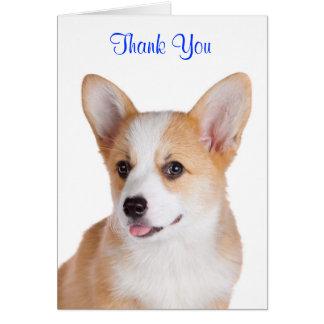 Thank You Pembroke Welsh Corgi Greeting Card