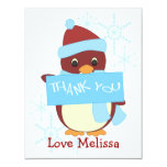 "Thank You Penguin 4.25"" X 5.5"" Invitation Card"