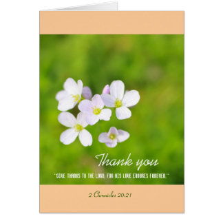 Thank you personalised christian card