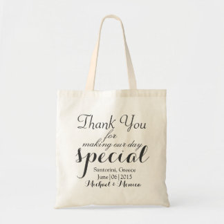 Thank You Personalized Wedding Hotel Gift Tote Bag