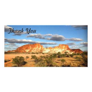 Thank You photo card - Australian outback