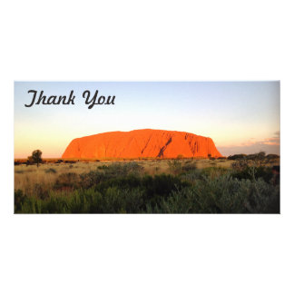 Thank You photo card - Central Australia
