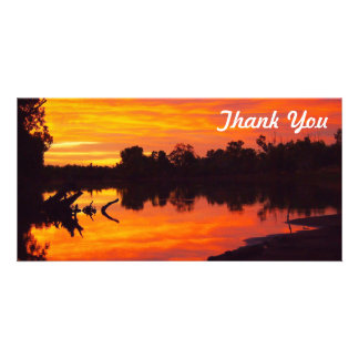 Thank You photo card - Cloncurry River sunrise