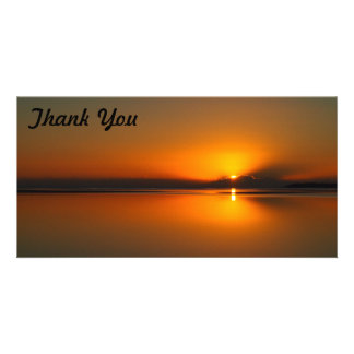 Thank You photo card - Dundowran Beach sunrise