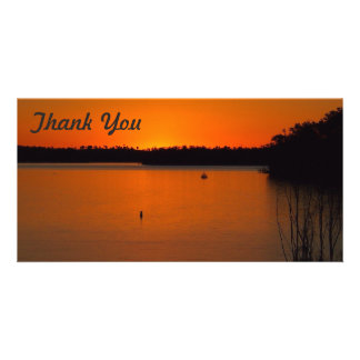 Thank You photo card - Lake Monduran sunset