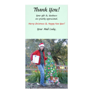 Thank You Photo Card - Mailman