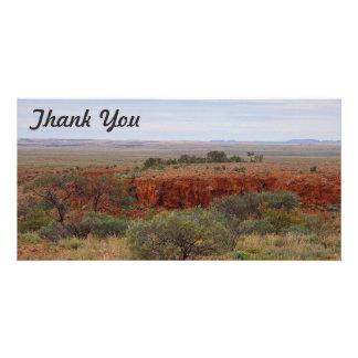 Thank You photo card - Outback Australia