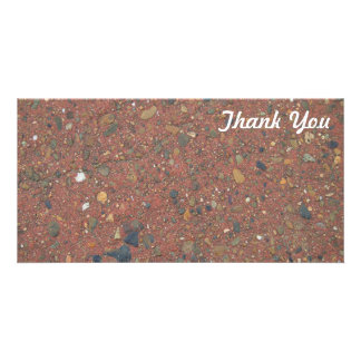 Thank You photo card - Sand and pebbles