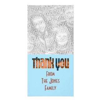 thank you photo card template