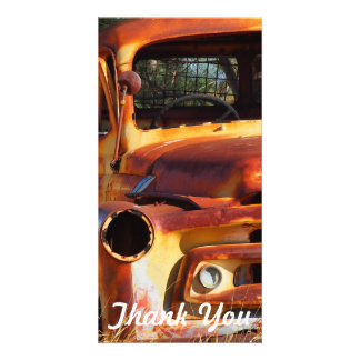 Thank You photo card - Vintage car
