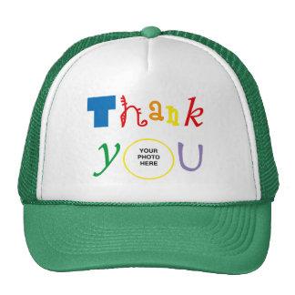 Thank you photo trucker hats
