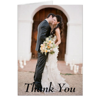 Thank You Photo Wedding Note Card