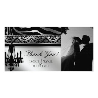 Thank You Photocard Chandelier Silver Black Photo Card
