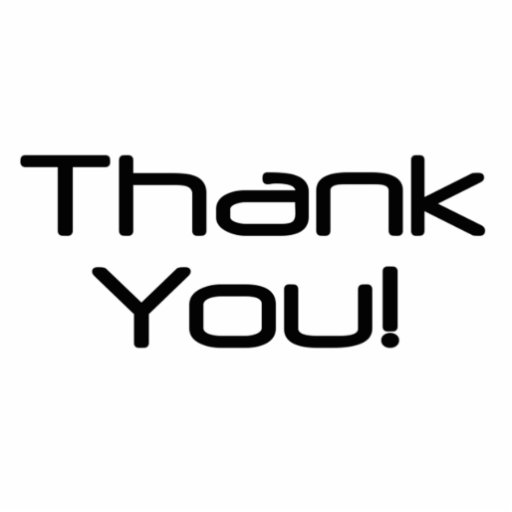 Thank You Photo Cut Out