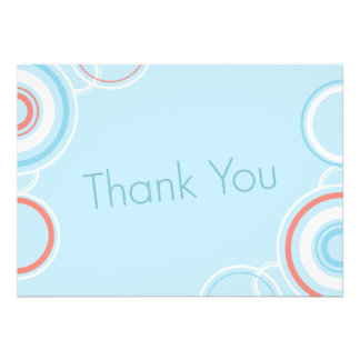 Thank You - Pink & Blue Circles Custom Announcement