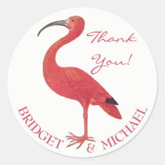THANK YOU | Pink Flamingo - Fine Art Sticker