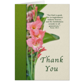Thank you, Pink Gladiolus Card