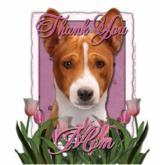 Thank You - Pink Tulips - Basenji Photo Cutout