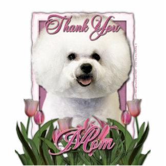 Thank You - Pink Tulips - Bichon Frise Photo Cutouts