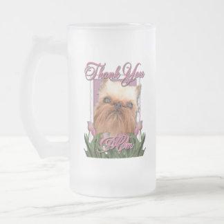 Thank You - Pink Tulips - Brussels Griffon Coffee Mugs