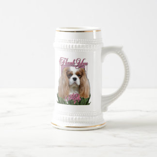 Thank You - Pink Tulips - Cavalier - Blenheim Beer Steins