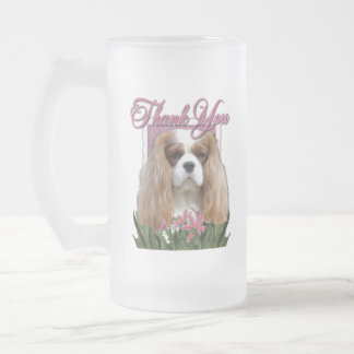 Thank You - Pink Tulips - Cavalier - Blenheim 16 Oz Frosted Glass Beer Mug