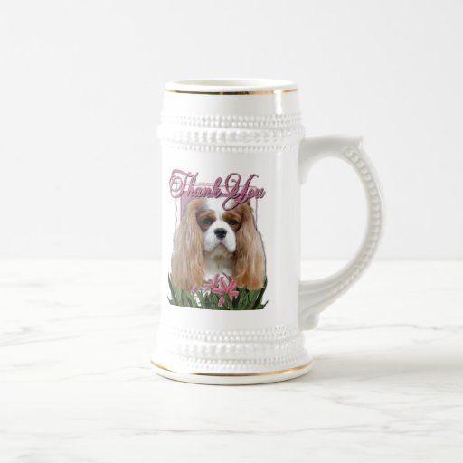 Thank You - Pink Tulips - Cavalier - Blenheim Coffee Mugs