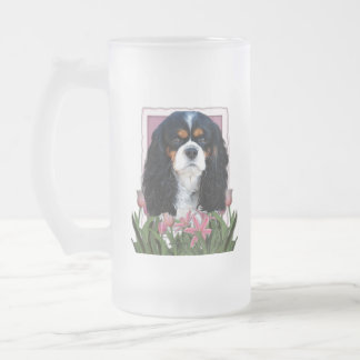 Thank You - Pink Tulips - Cavalier - Tri-Color Frosted Glass Mug