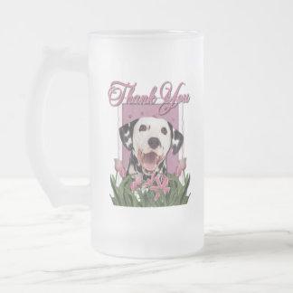 Thank You - Pink Tulips - Dalmatian Coffee Mugs
