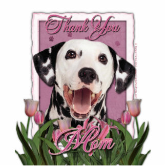 Thank You - Pink Tulips - Dalmatian Acrylic Cut Out