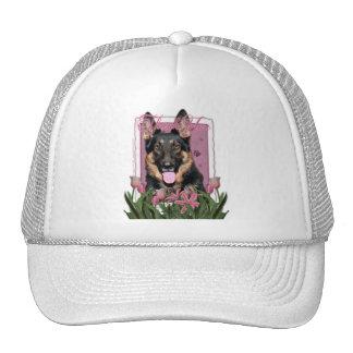 Thank You - Pink Tulips - German Shepherd - Kuno Hat