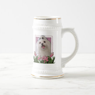 Thank You - Pink Tulips - Maltese 18 Oz Beer Stein