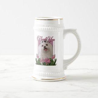 Thank You - Pink Tulips - Maltese Coffee Mug