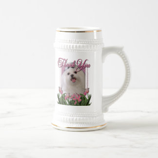 Thank You - Pink Tulips - Maltese Mug