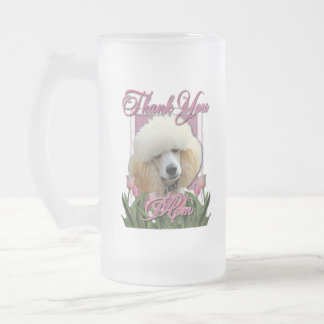 Thank You - Pink Tulips - Poodle - Apricot Coffee Mugs