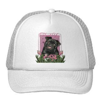 Thank You - Pink Tulips - Pug - Ruffy Hats