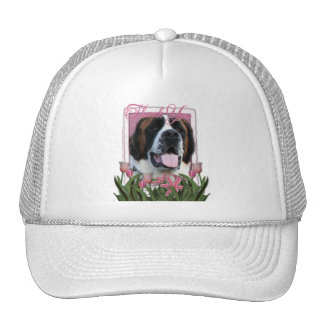 Thank You - Pink Tulips - Saint Bernard - Mae Mesh Hat