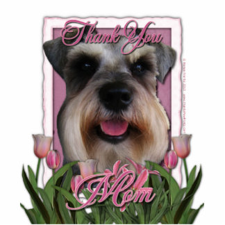 Thank You - Pink Tulips - Schnauzer Cut Outs
