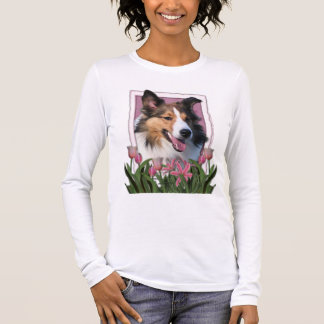 Thank You - Pink Tulips - Sheltie Long Sleeve T-Shirt