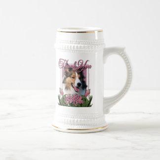 Thank You - Pink Tulips - Sheltie Coffee Mugs