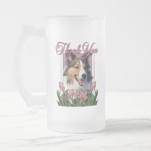 Thank You - Pink Tulips - Sheltie Mugs